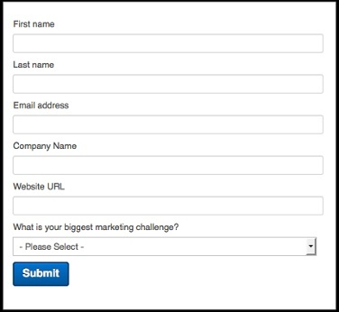 convert visitors to leads - inbound marketing form